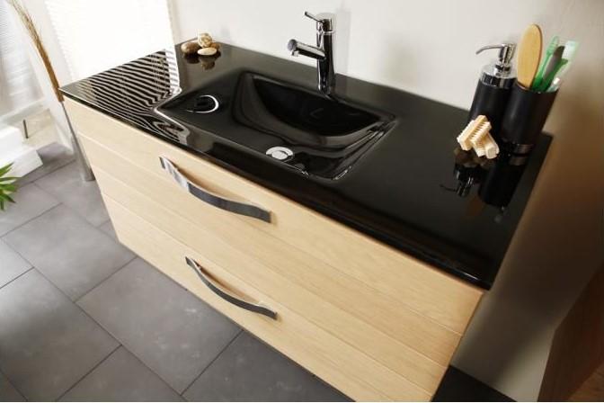 Declikdeco meuble vasque 2 tiroirs miroir tag re therma meuble bas salle de bain rue du - Meuble salle de bain rue du commerce ...