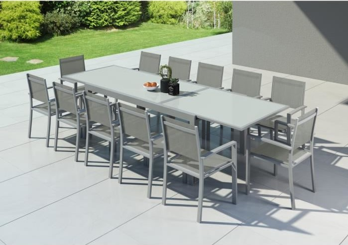 Audacieuse HARA XXL Table de jardin extensible aluminium pas cher - Salon de ST-76