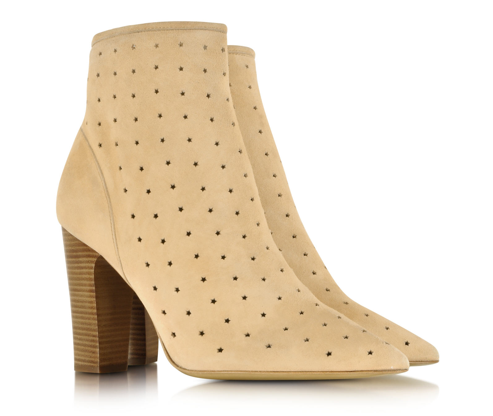 Perforated Star Sued Bootie See by Chloé - Bottines Forzieri