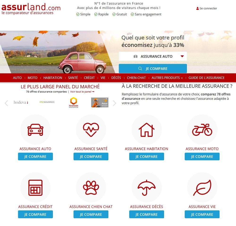 Assurland Comparateurs Assurances