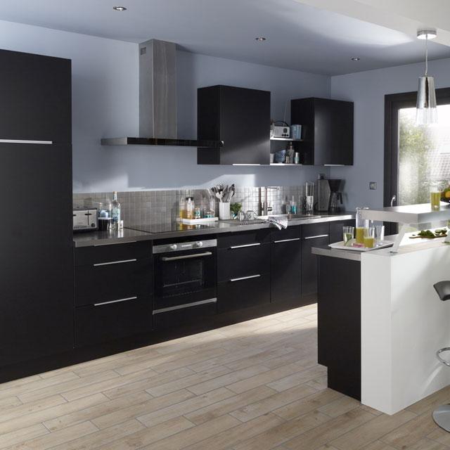 cuisine castorama cuisine cooke lewis ice noire. Black Bedroom Furniture Sets. Home Design Ideas
