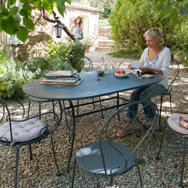 Salon de jardin en métal Flores, Salon de jardin Castorama - Iziva.com