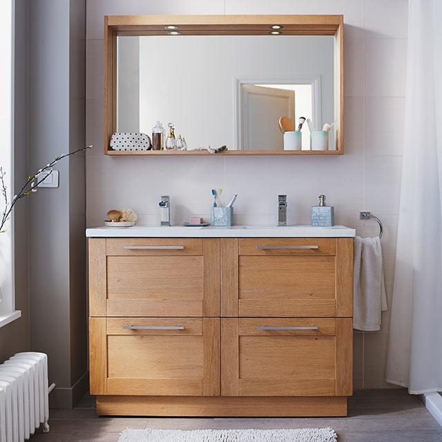 Meuble de salle de bains chêne Isle - Meuble de salle de ...