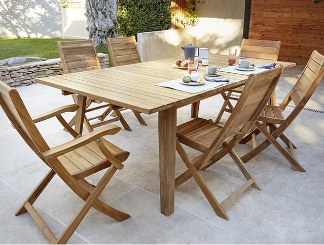 Salon de jardin en bois Fuji/Brugge Blooma - Salon de jardin ...