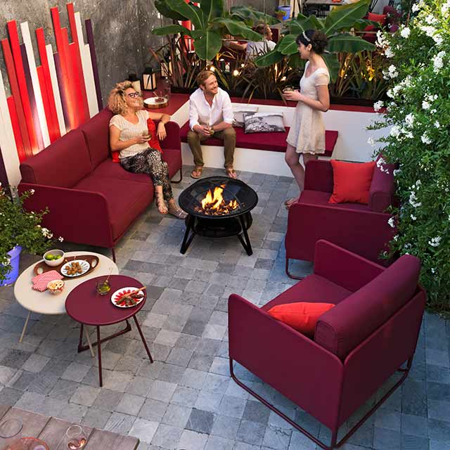 Salon de jardin en acier Malo Blooma - Salon de jardin ...