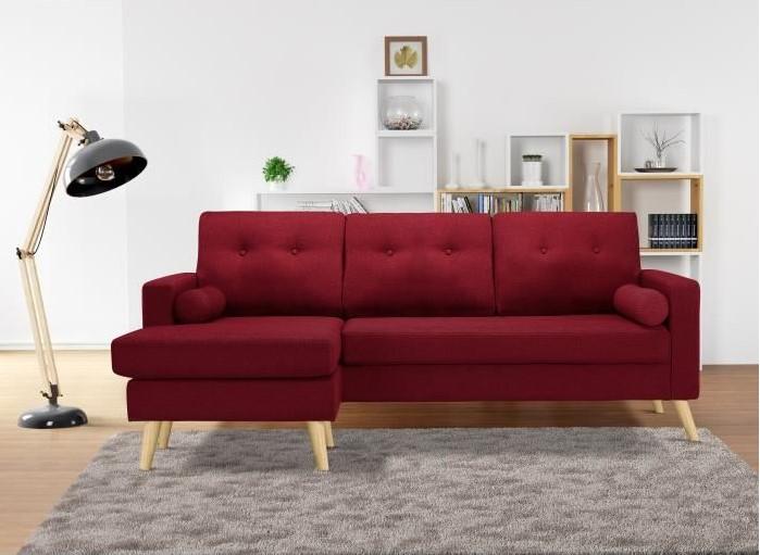IBRA Canapé angle réversible 4 places Tissu rouge pas cher - Canapé  Cdiscount  (Maison)  Cdiscount IBRA Canapé angle réversible 4 places Tissu  rouge ... 2a2c9a158bc7