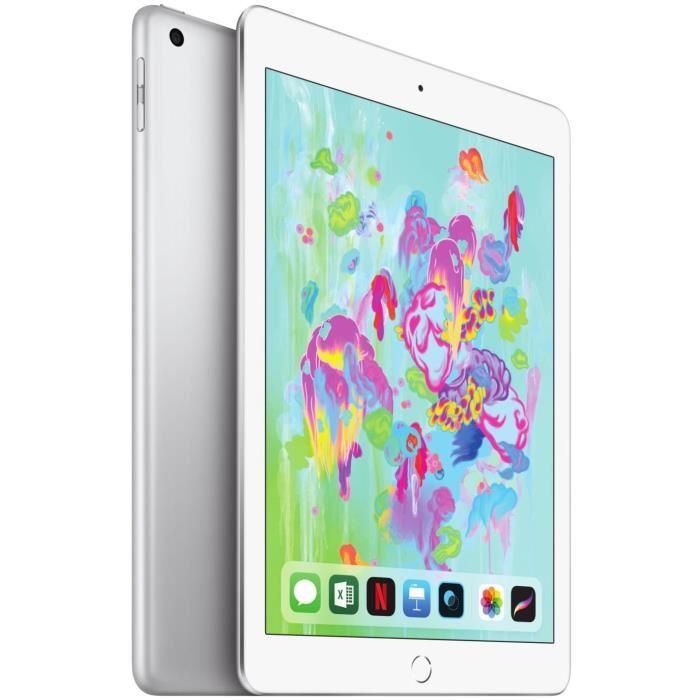 IPad 9,7'' Retina 32Go WiFi Argent 6ème Génération - Soldes Tablette Cdiscount