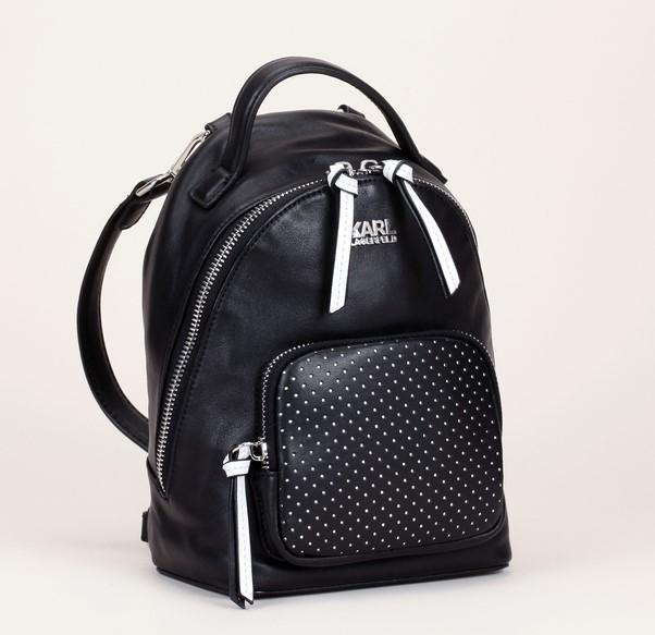Sac Cuir Noir Détails Lagerfeld Super À Mini Dos En Karl Backpack jUpGzLMVqS