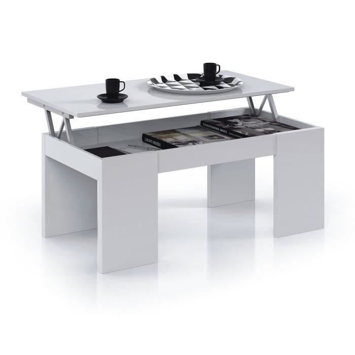 Table Basse Cdiscount Pas Cher Kendra Table Basse Blanche