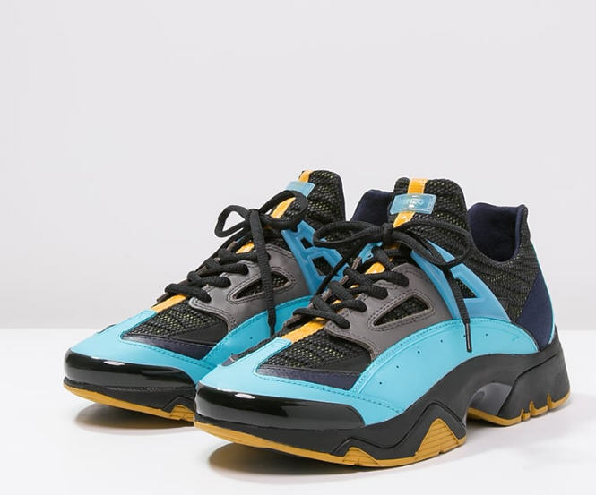 75befff0c30 Kenzo SONIC Baskets basses multi turquoise grey - Baskets Homme ...