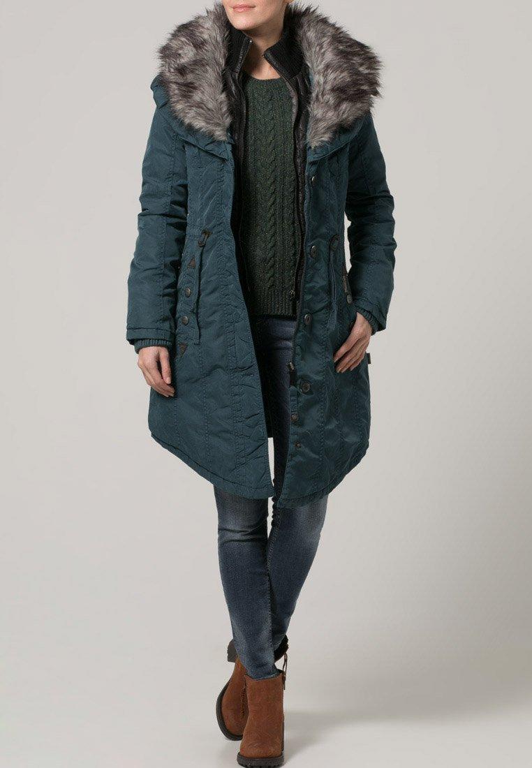 khujo monique veste d 39 hiver p trole manteaux femme zalando. Black Bedroom Furniture Sets. Home Design Ideas