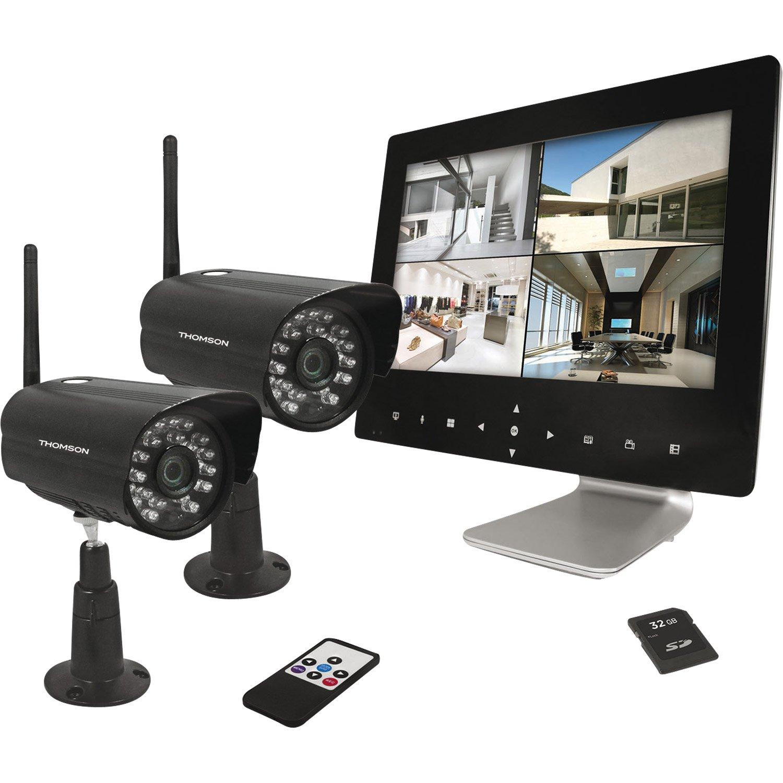 Kit de vidéosurveillance connecté sans fil THOMSON Dvr423b intérieur/extérieur  - Leroy Merlin