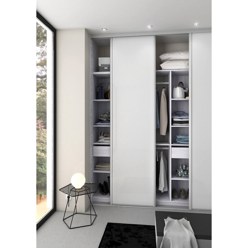 kit dressing effet fr ne blanc new york dressing leroy merlin. Black Bedroom Furniture Sets. Home Design Ideas
