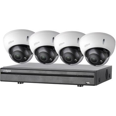Kit vidéosurveillance Dahua 4 caméras anti-vandalisme + enregistreur 1080p - ManoMano