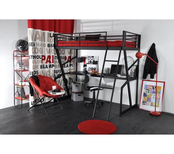 Lit carrefour pas cher lit mezzanine trapeze - Lit gain de place pas cher ...
