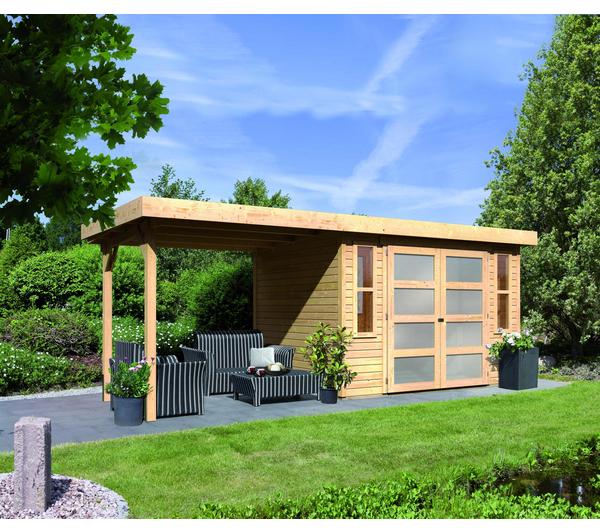 Abri de jardin bois Carrefour, KARIBU Abri Mühlendorf 4 avec ...