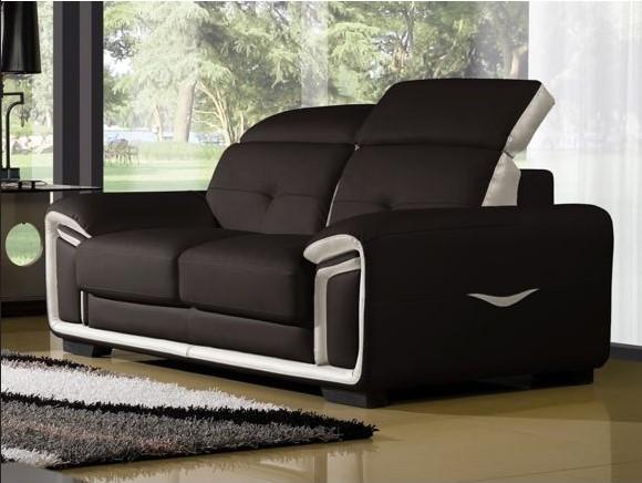 la maison du canapé canapé cuir 2 places hamilton pas cher - soldes
