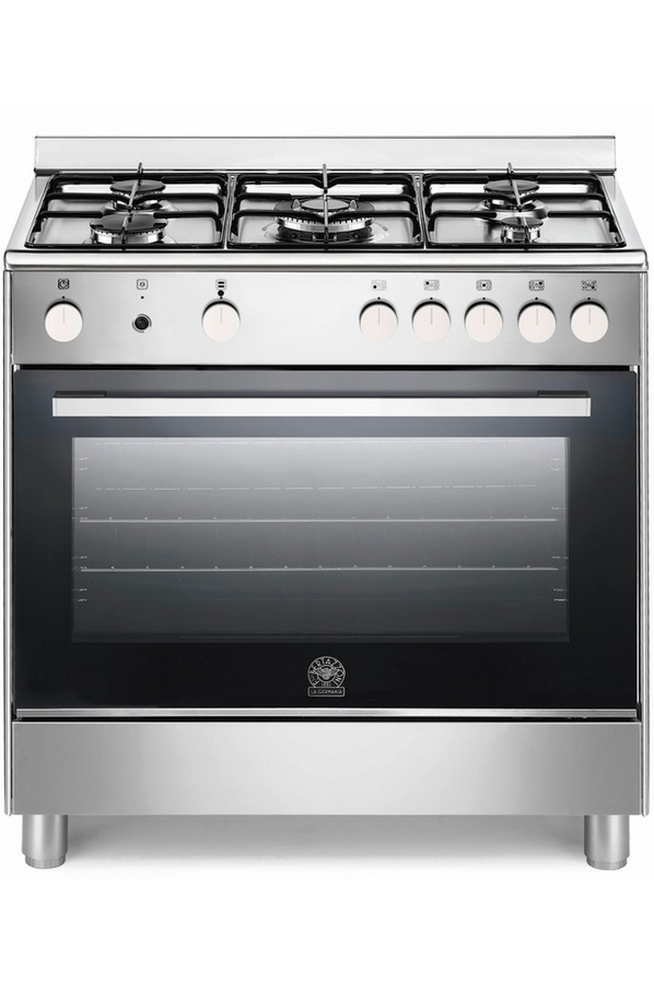 Ensemble piano de cuisson 5 feux gaz exd5c61 pro hotte - Gaziniere la germania ...