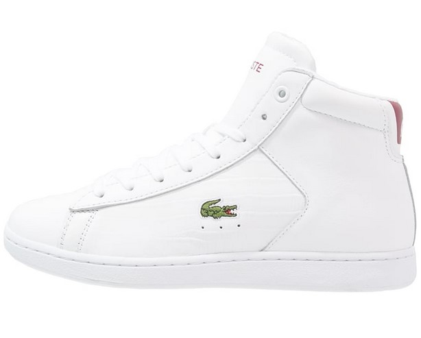 meilleures baskets b126a fd071 Lacoste CARNABY EVO Baskets montantes weiß/rot - Baskets ...