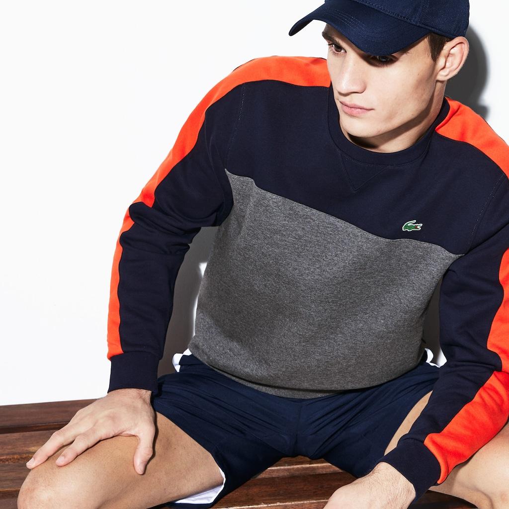 prix de liquidation super qualité 100% de qualité Sweatshirt Tennis col rond Lacoste SPORT en molleton color-block -  Sweatshirt homme Lacoste