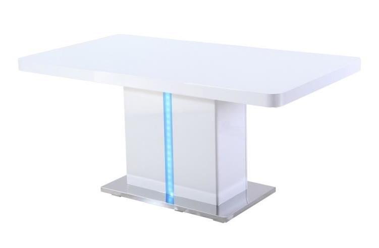 LASER Table à manger avec LED de 6 à 8 personnes