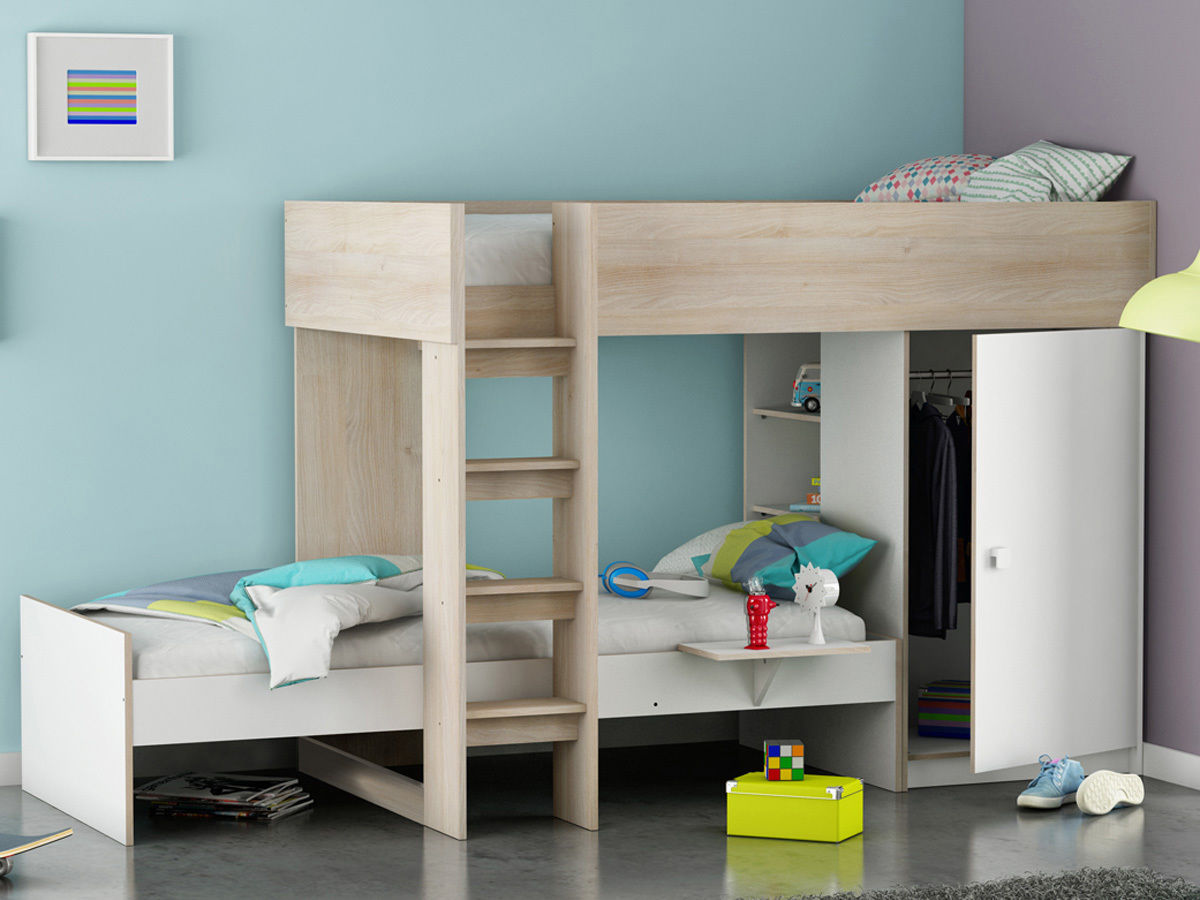 demeyere lit sur lev 90 x 200 cm lit 90 x 200 rangement treno lit enfant rue du commerce. Black Bedroom Furniture Sets. Home Design Ideas