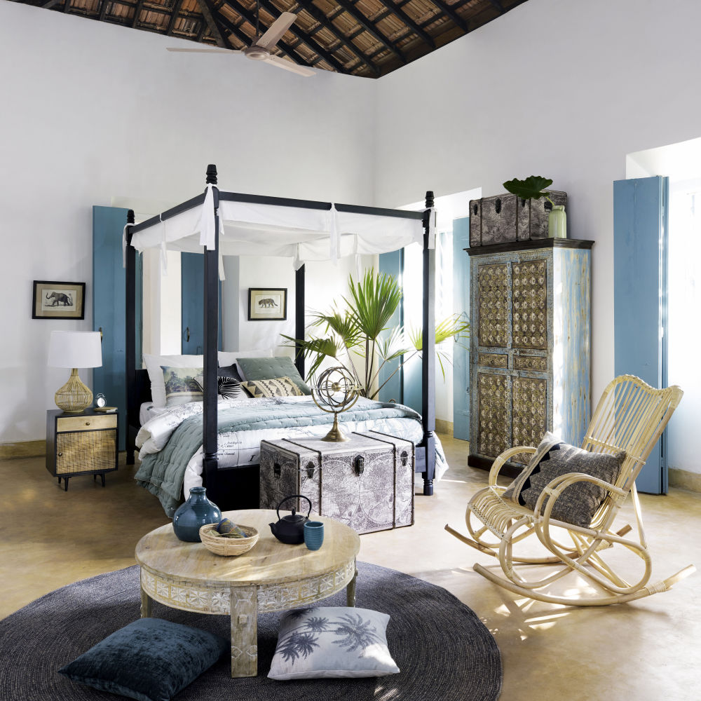 lit miliboo lit baldaquin arabesque romantique blanc 2. Black Bedroom Furniture Sets. Home Design Ideas