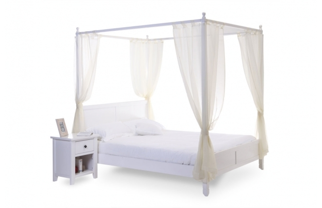 lit miliboo lit baldaquin arabesque romantique blanc 2. Black Bedroom Furniture Sets. Home Design Ideas