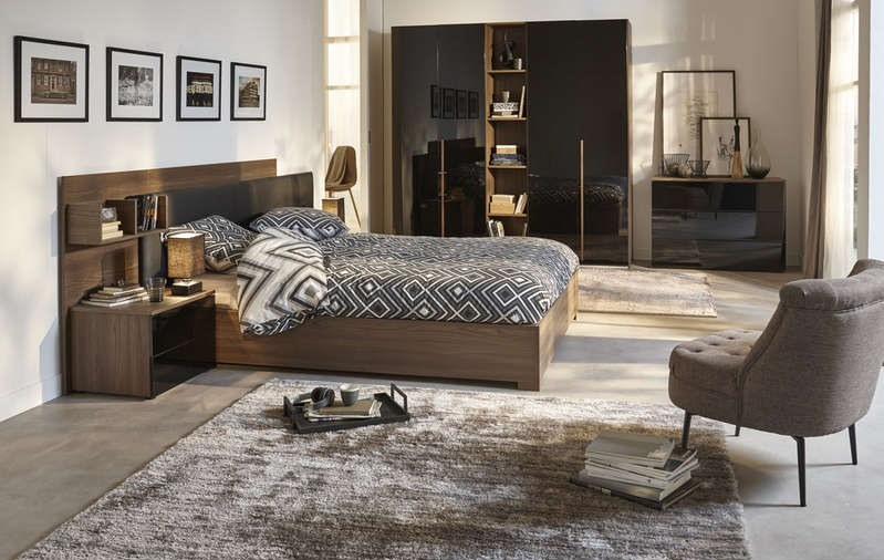 Lit bambou conforama lit bambou conforama with lit bambou for Chambre quadra noisette