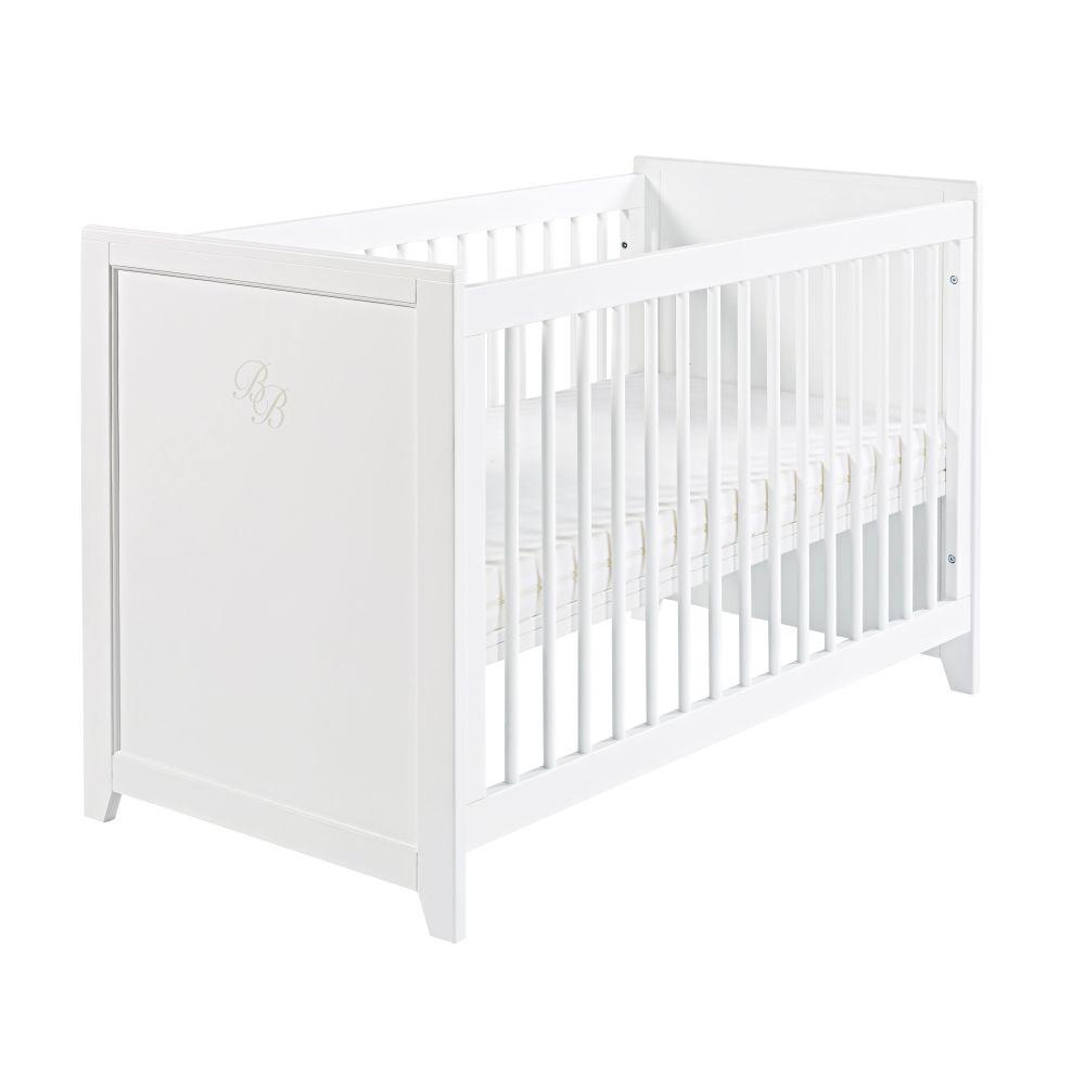 Lit bébé SAINT HONORE à barreaux blancs - Maisons du Monde