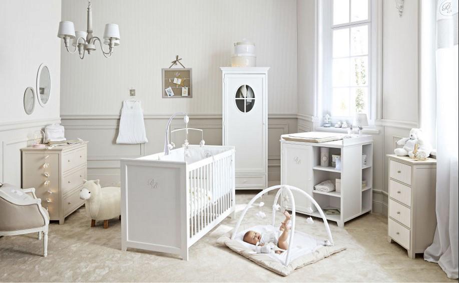 Lit bébé SAINT HONORE à barreaux blancs pas cher   Lit Bébé