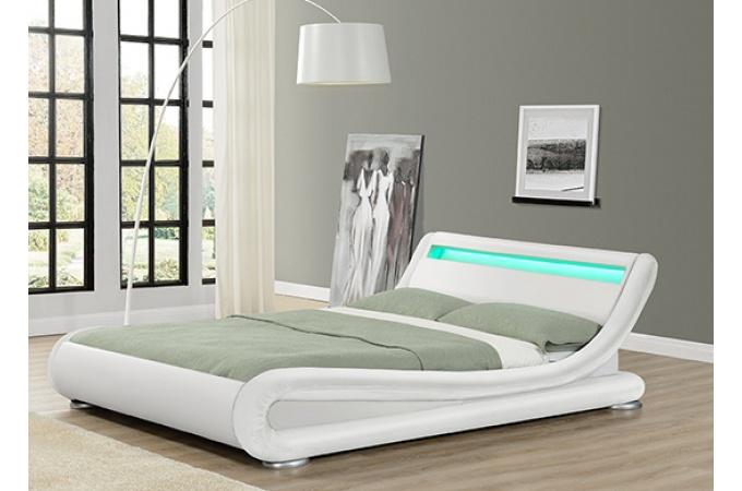 Lit design julia blanc 160cm lit design declikdeco - Castorama canape lit ...