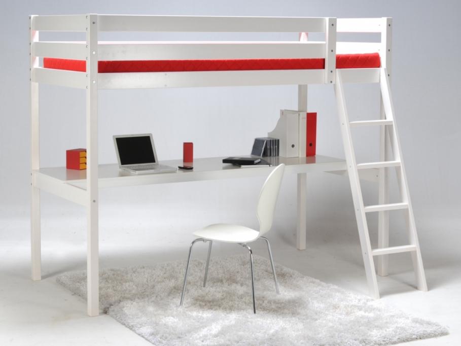 Lit mezzanine avec bureau sur iziva iziva