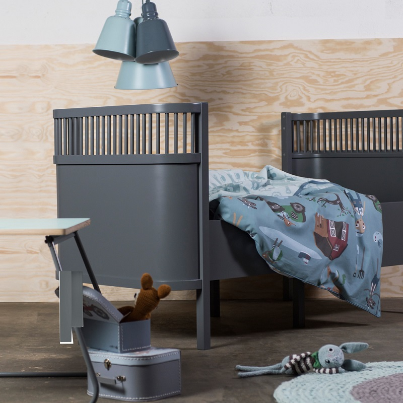 lit volutif kili gris fonc sebra design b b lit b b evolutif smallable. Black Bedroom Furniture Sets. Home Design Ideas