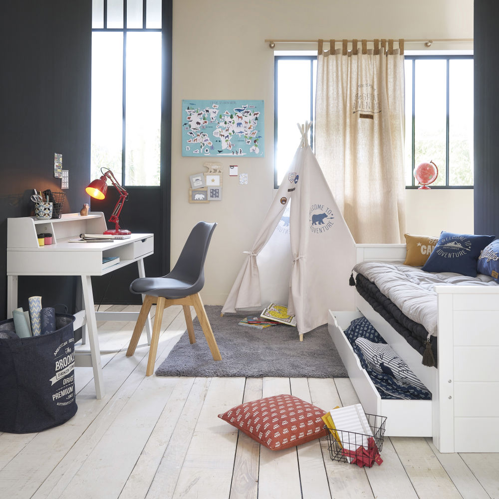 Lit extensible Happy Camper 90x190 blanc pas cher - Lit Enfant ...