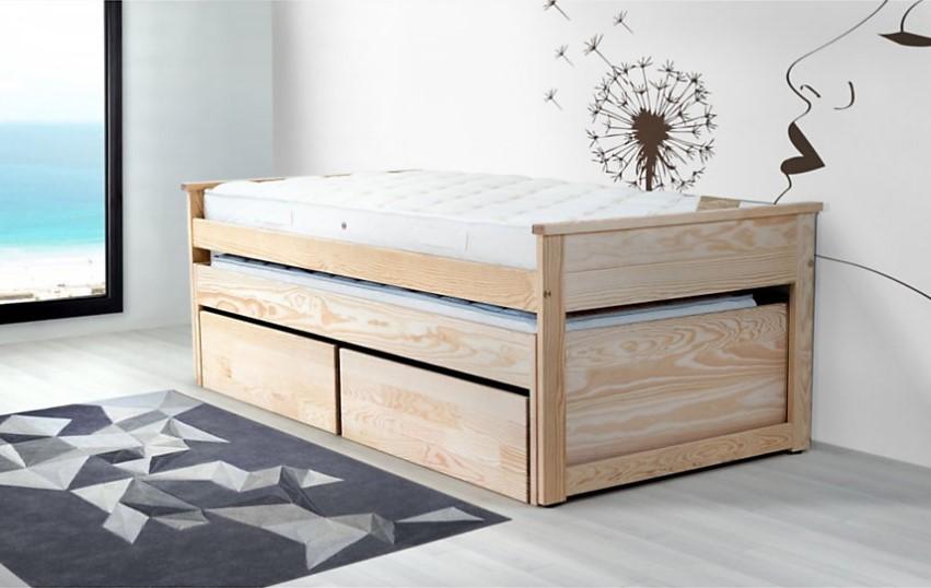 lit gigogne anselme avec rangements lit enfant vente. Black Bedroom Furniture Sets. Home Design Ideas