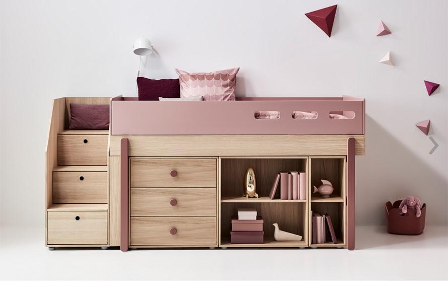 lit mezzanine carrefour mezzo lit mezzanine 140x190 avec banquette clic clac. Black Bedroom Furniture Sets. Home Design Ideas