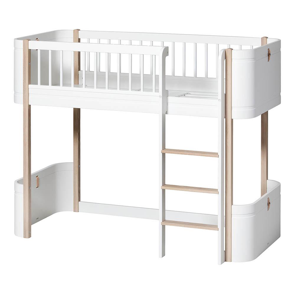 Lit Mini + Mezzanine mi-haut Chêne Oliver Furniture