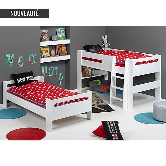 lits superpos s scoop 90 x 190 cm camif lit enfant camif. Black Bedroom Furniture Sets. Home Design Ideas