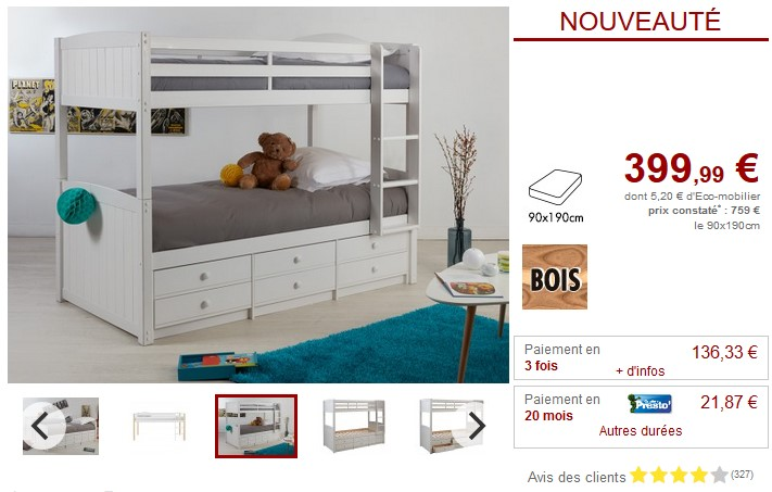 lit enfant vente unique sur iziva. Black Bedroom Furniture Sets. Home Design Ideas