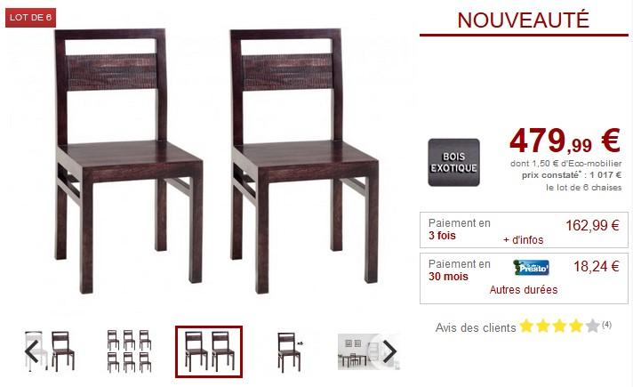 lot de 4 chaises industrielles coloris noir chaises conforama. Black Bedroom Furniture Sets. Home Design Ideas