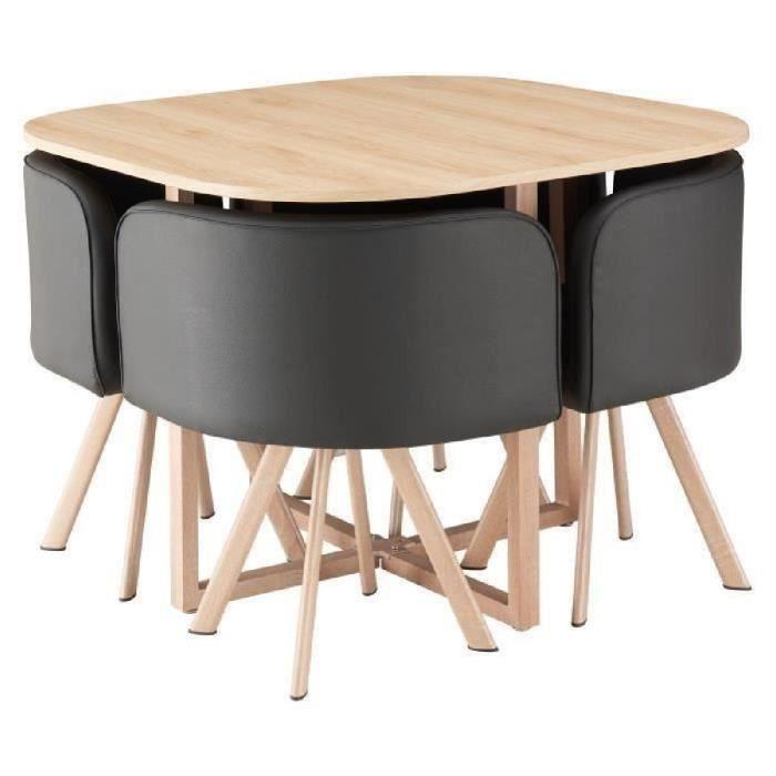 Hispter Ensemble Table à Manger 4 Personnes Style Scandinave