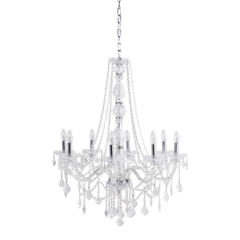 Lustre à pampilles 8 branches en cristal ROCHEFOUCAUD - Maisons du Monde