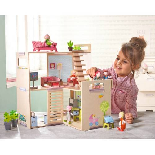 Maison en bois meublée little friends Haba