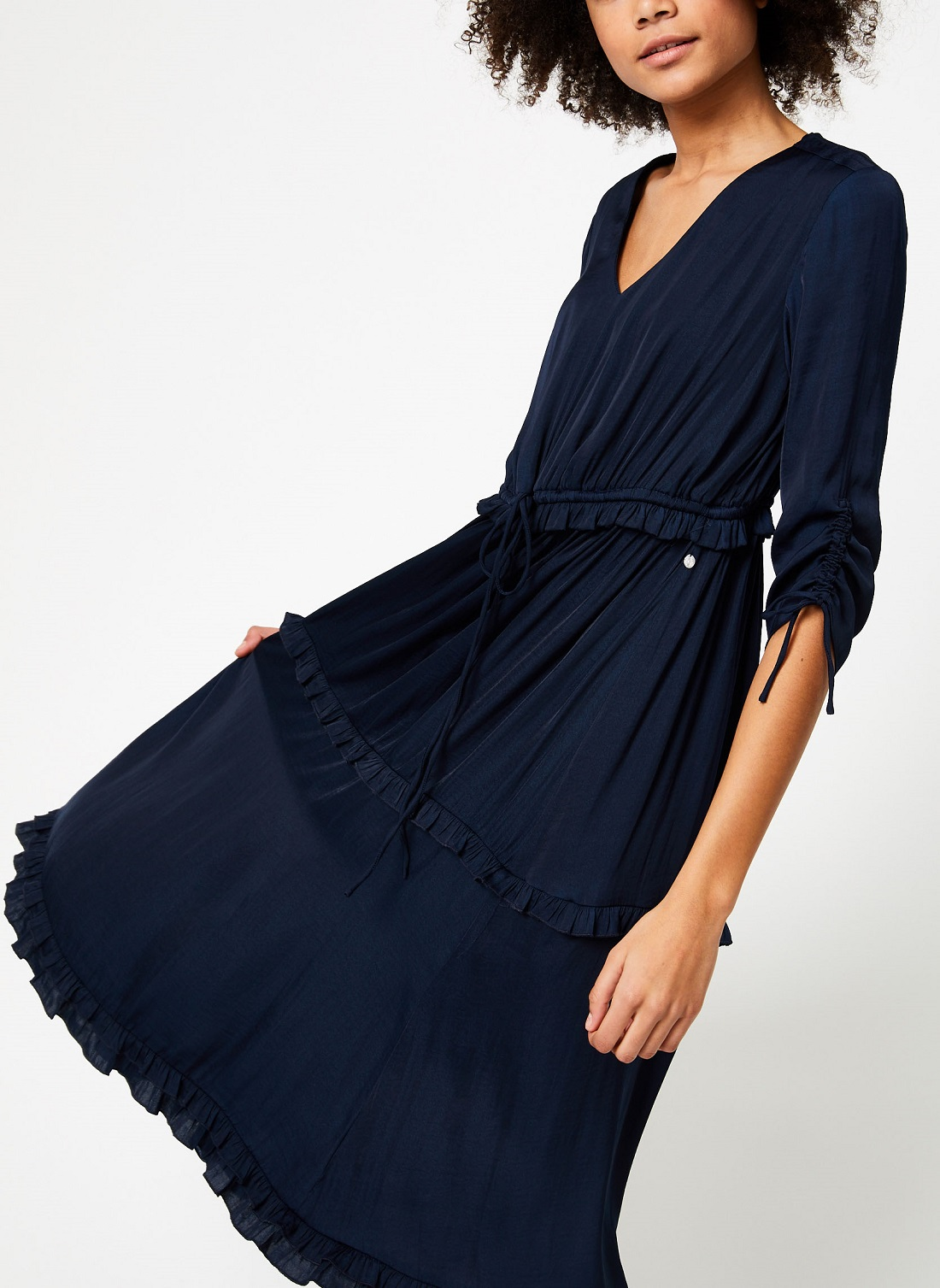 Robe midi à volants Maison Scotch