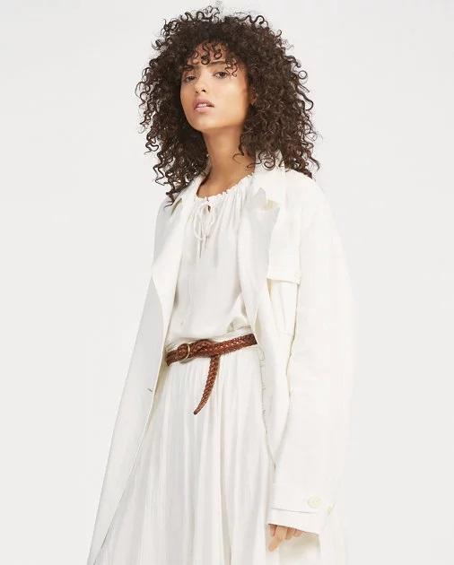 Manteau coupe croisée en lin Nevis Polo Ralph Lauren pour Femme