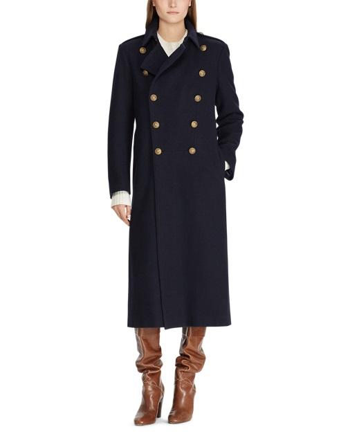 Manteau en laine coupe croisée Polo Ralph Lauren