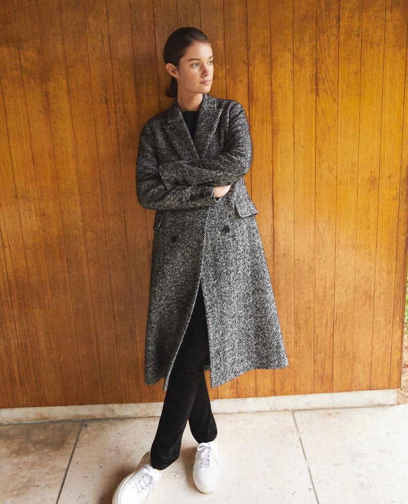 Manteau intemporel tailoring Gurguy Noir/blanc Comptoir des Cotonniers