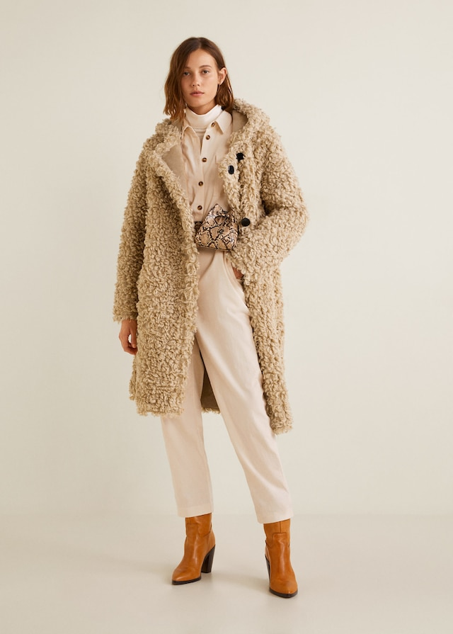 Mango VENTERO Manteau long en imitation mouton