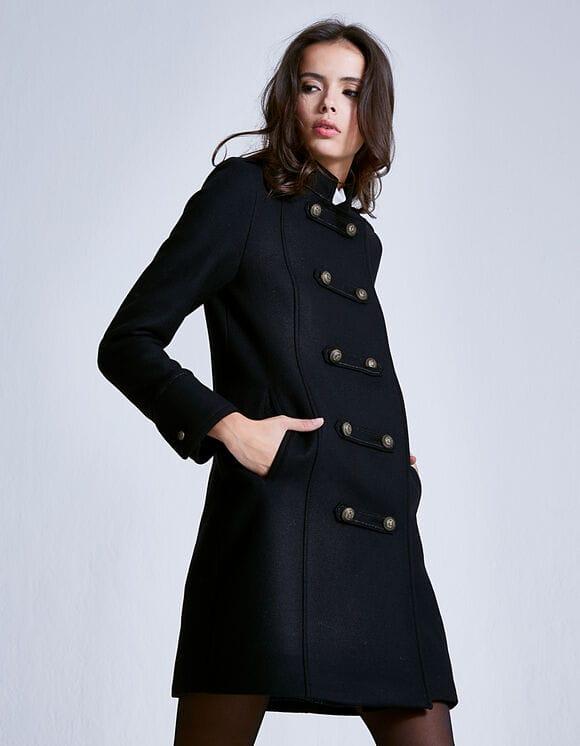 manteau en laine cintré femme ikks